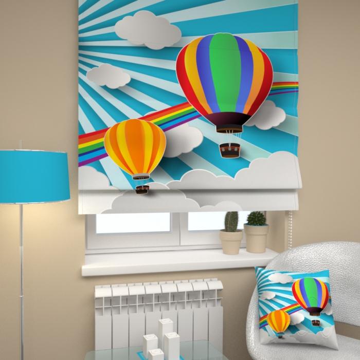 Римские фотошторы «Р Воздушные шары»