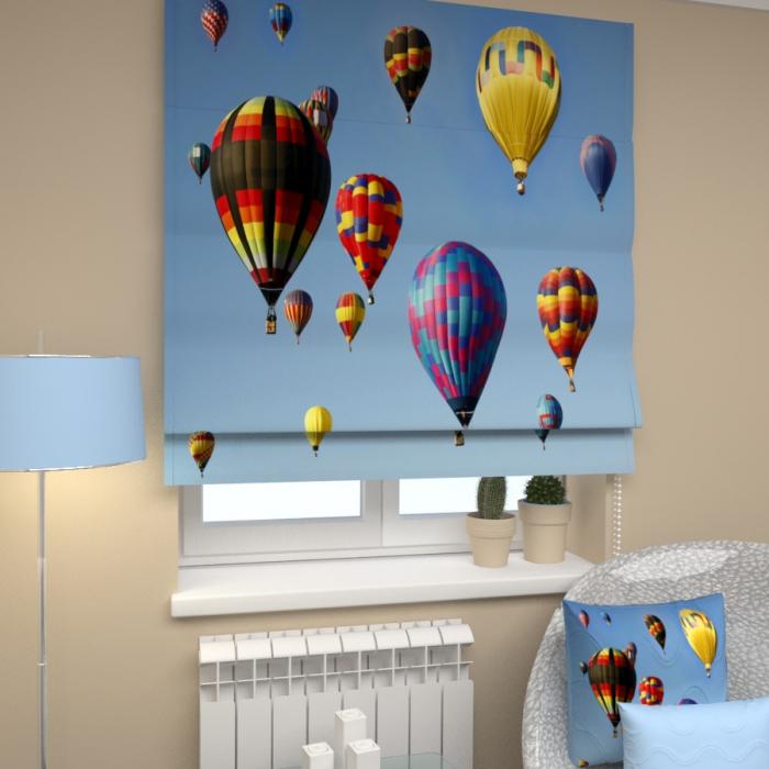 Римские фотошторы «Р Воздушные шары в небе»