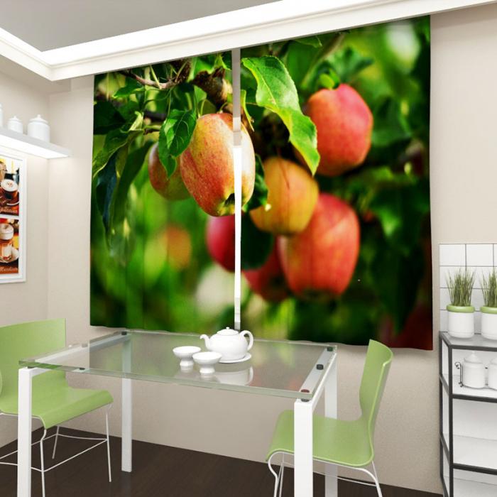 Фотошторы «Яблоки на ветке»