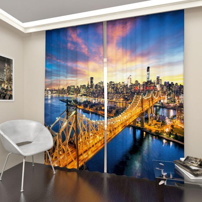 Фотошторы «Закат в Нью Йорке»