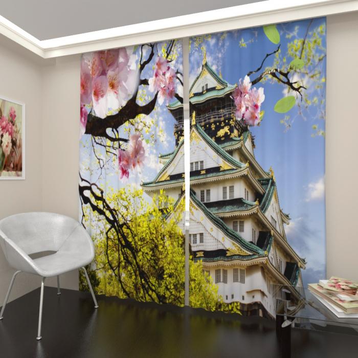 Фотошторы «Замок в Японии»