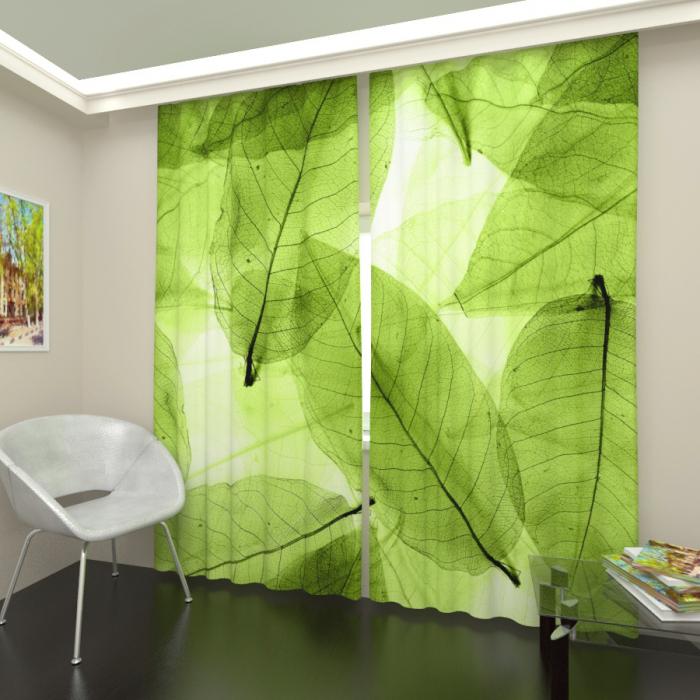 Фотошторы «Зеленая листва 2»