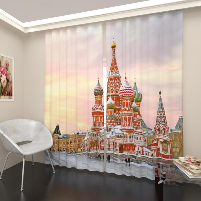 Фотошторы «Зимний кремль»