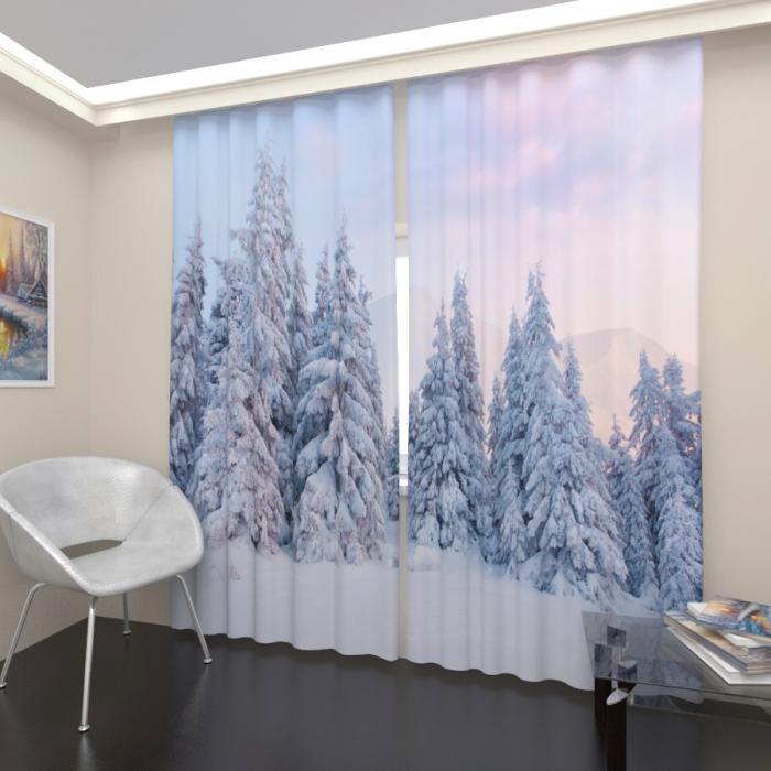 Фотошторы «Зимний лес 2»