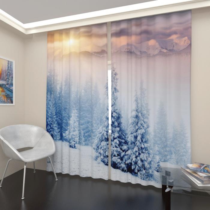 Фотошторы «Зимний лес 3»